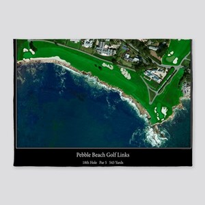 Pebble Beach 18th Hole 5'x7'Area Rug
